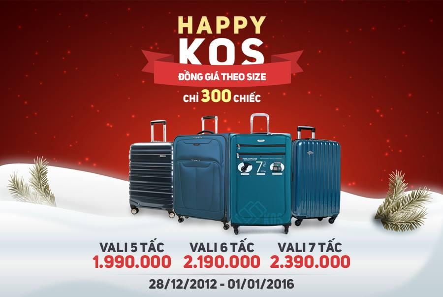 Cơ hội sở hữu vali thương hiệu Mỹ đồng giá cuối cùng của năm 2015