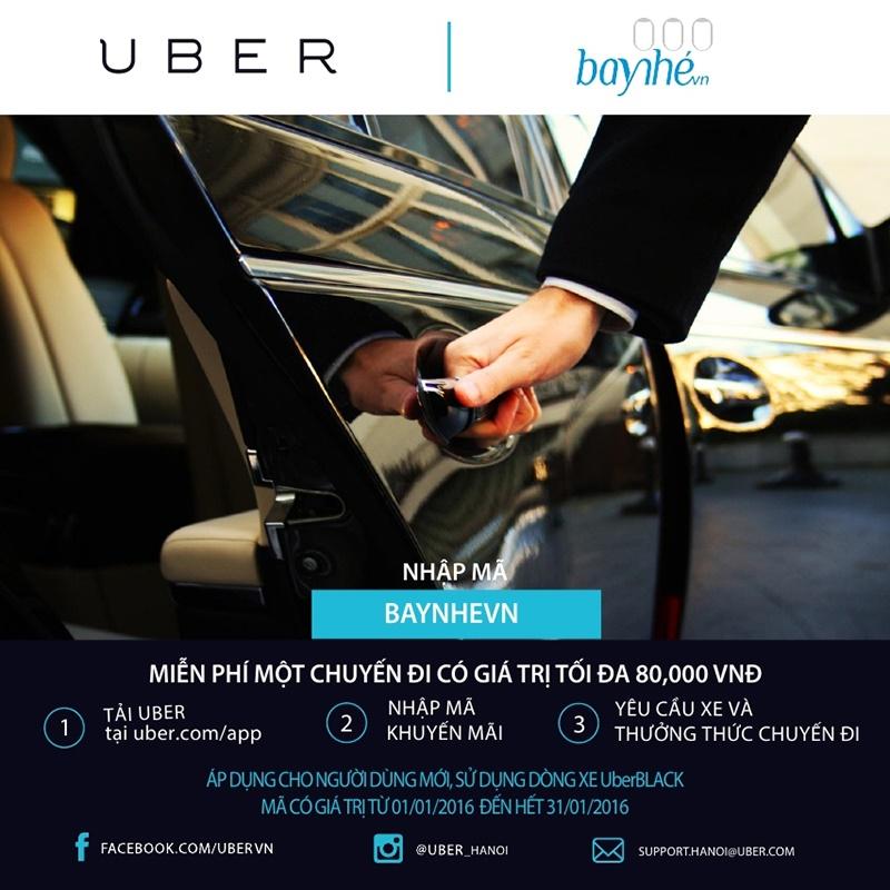 [Deal] Trời rét, Uber tặng bạn 80.000 đồng đi taxi
