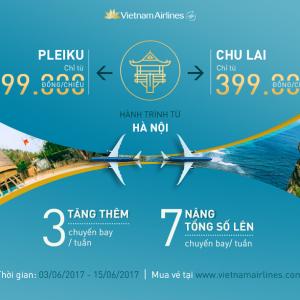 Hà Nội đi đảo Lý Sơn và Pleiku giá rẻ của Vietnam Airlines nè!
