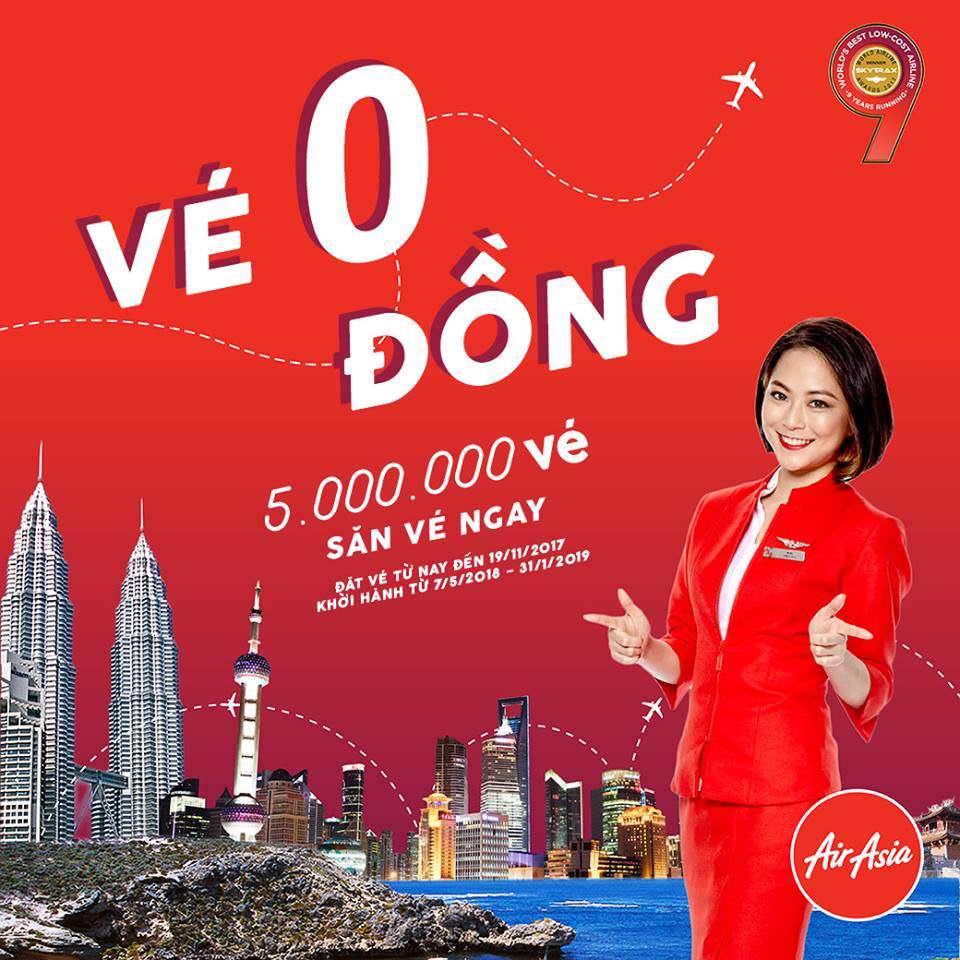 Cú chót cuối năm: 5 triệu vé 0 đồng của AirAsia
