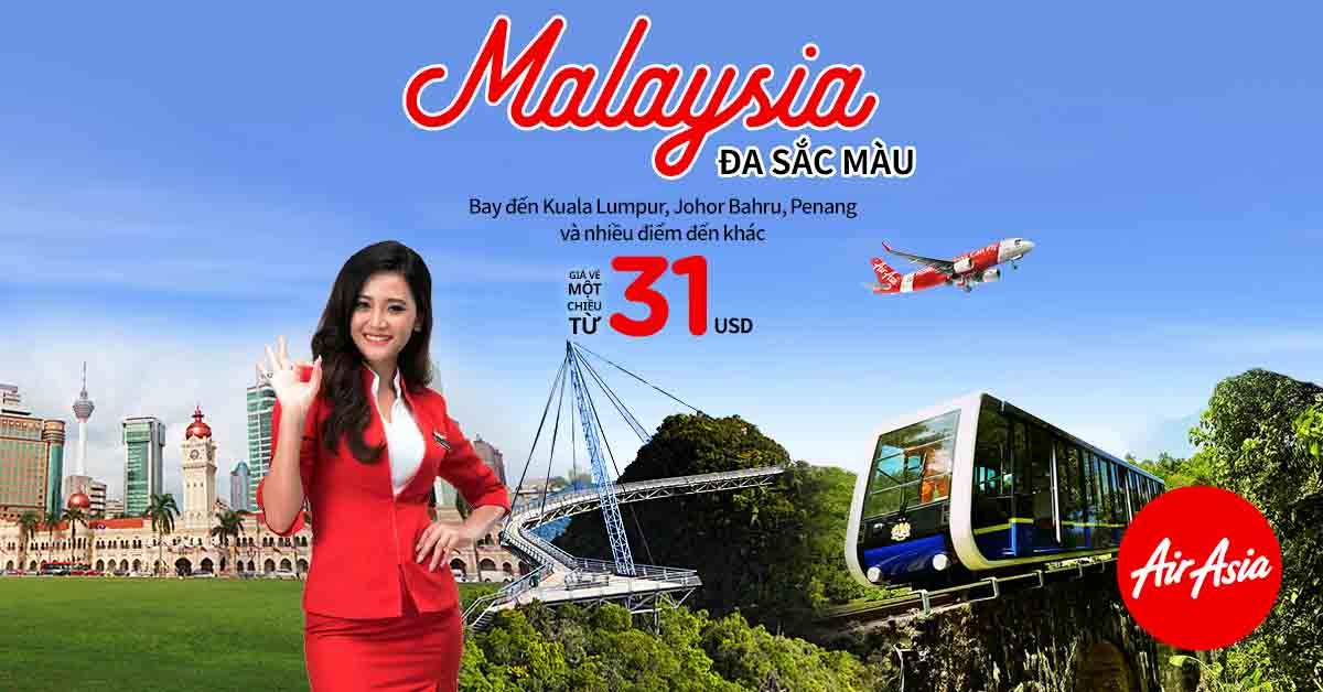 san ve airasia Săn vé rẻ bay Malaysia đúng mùa shopping MegaSale 2018