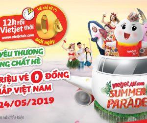 Búng tay triệu vé 0 đồng, bay khắp Việt Nam