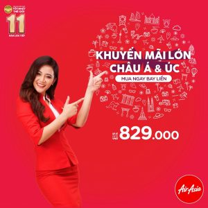AirAsia khuyến mãi lớn cho các chặng bay châu Á và Úc