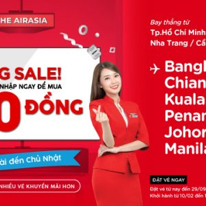 AirAsiaBig Sale vé 0 đồng cho cả năm 2020