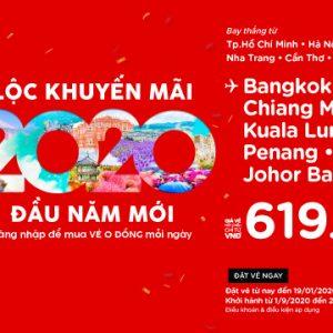 Lộc khuyến mãi đầu năm mới của AirAsia (bay 2020 và 2021)
